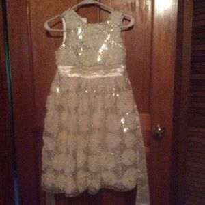 Children's place size 10 cream jeweled dress